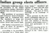 Indian group elects officers