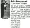 Ralph Boston speaks at all-sports banquet