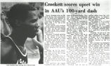 Crockett scores upset win in AAU's 100-yard dash