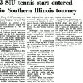3 SIU tennis stars entered in Southern Illinois tourney