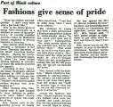 Fashions give sense of pride