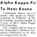 Alpha Kappa Psi To Hear Keene