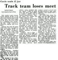 Track team loses meet