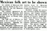 Mexican folk art to be shown