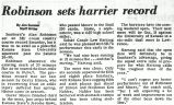 Robinson sets harrier record