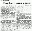 Crockett runs again