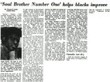 'Soul Brother Number One' helps blacks improve