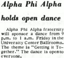 Alpha Phi Alpha holds open dance