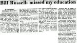 Bill Russell: missed my education