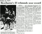 Hawthorne's 21 rebounds near record