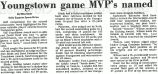 Youngstown game MVP's named