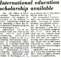 International education scholarship available
