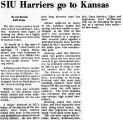 SIU Harriers go to Kansas