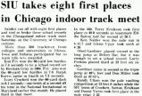 SIU takes eight first places in Chicago indoor track meet