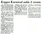 Kappa Karnival adds 2 events