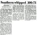 Southern whipped 100-71