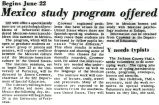 Mexico study program offered