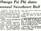 Omega Psi Phi slates annual Sweetheart Ball