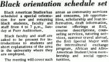 Black orientation schedule set