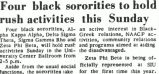 Four black sororities to hold rush activities this Sunday