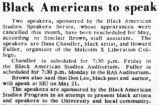 Black Americans to speak
