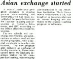 Asian exchange started