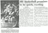 SIU basketball promises to be quick, exciting