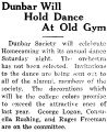 Dunbar Will Hold Dance At Old Gym