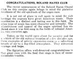 CONGRATULATIONS, ROLAND HAYES CLUB