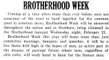BROTHERHOOD WEEK