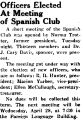 Officers Elected At Meeting of Spanish Club