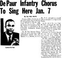 De Paur Infantry Chorus To Sing Here Jan. 7