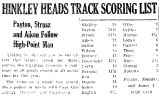 HINKLEY HEADS TRACK SCORING LIST