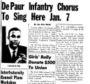 DePaur Infantry Chorus To Sing Here Jan. 7