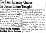 De Paur Infantry Chorus In Concert Here Tonight
