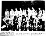 Coach Lynn Holder gives instructions to the 1955-56 Saluki cagers