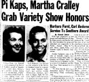Pi Kaps, Martha Carlley Grab Variety Show Honors