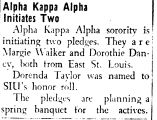 Alpha Kappa Alpha Initiates Two