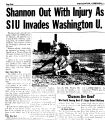 Shannon Out With Injury As SIU Invades Washington U.