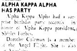 ALPHA KAPPA ALPHA HAS PARTY
