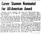 Carver Shannon Nominated For All-American Award