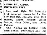 ALPHA PHI ALPHA INITIATES FIVE