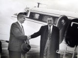 Don Michel welcomes Walter Cronkite, 1966