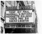 Madison Square Garden National Invitational Basketball Tournament Sign 1967