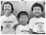 Thai Children wearing Southern Illinois University Shirts