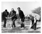 Delyte Morris at a Groundbreaking Ceremony