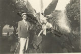 James and Lucia Joyce at Lake of Constance