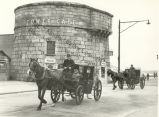 Cabs at Martello Tower in Sandymount