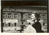 Caresse Crosby in Front of Building on Street in Rome