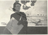 Caresse Crosby in Front of Building in Rome